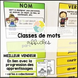 Affiches - classes de mots