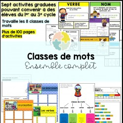 Ensemble : Les classes de mots