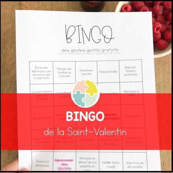 BINGO de la gentillesse - Saint-Valentin