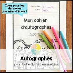 Cahier d'autographes