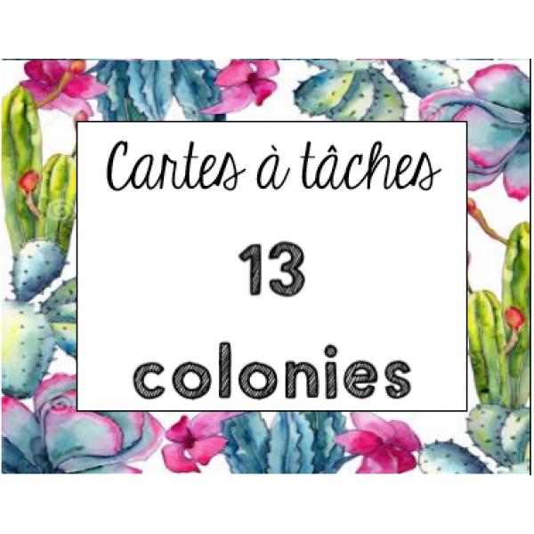 Cartes à tâches - 13 colonies anglaises (4e année)