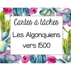 Cartes à tâches - Algonquiens vers 1500 (3e année)