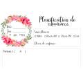 Planification de suppléance Floral