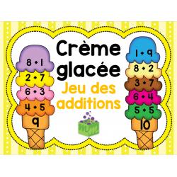 Crème glacée jeu des additions