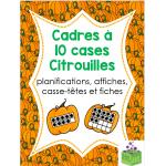Cadres à 10 cases citrouilles