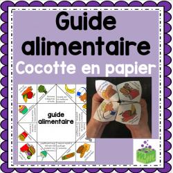 Guide alimentaire cocotte en papier