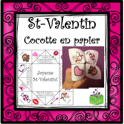 St-Valentin cocotte en papier