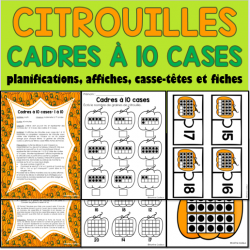 Citrouilles Halloween cadres à 10 cases