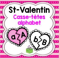 Saint-Valentin casse-têtes alphabet