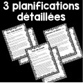 Besoins et désirs- planifications et fiches