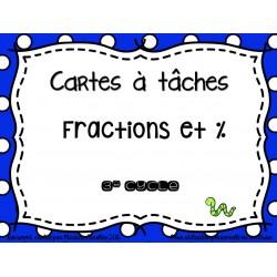 cartes à tâche % et fractions