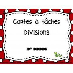 cartes à tâches sur la division