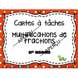 cartes à tâches multiplications de fractions