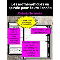 Maths en spirale 3e année (2020 ONTARIO)