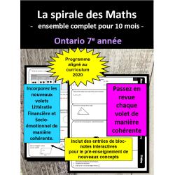 Maths en spirale 7e année (Ontario 2020)
