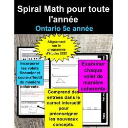 Maths en spirale 5e année (Ontario 2020)