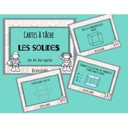 Les solides (cartes à tâches)