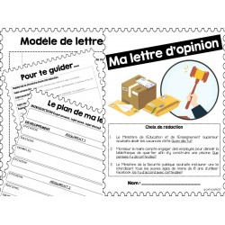 Ma lettre d'opinion - Rédaction
