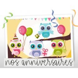 Les anniversaires - HIBOUX