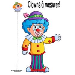 Clowns et animaux à mesurer