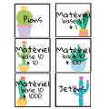 Affiches materiel de manipulation cactus