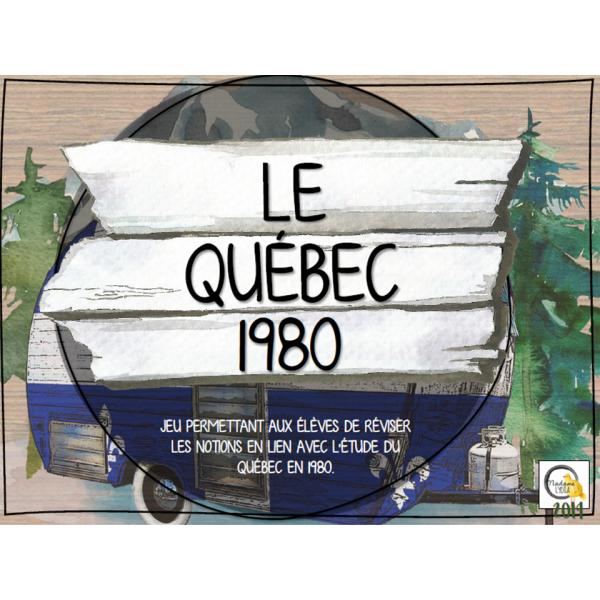 Atelier - Univers social - Québec 1980