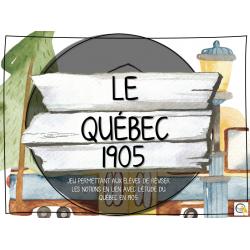 Atelier - Univers social - Québec 1905