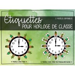 Affiche - horloge de classe
