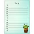 Mon petit journal de listes - cactus