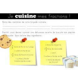 Cuisiner avec les fractions