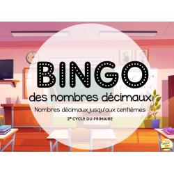 Bingo des nombres décimaux - 2e cycle