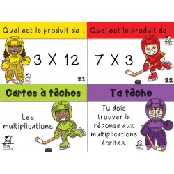 Cartes à tâches - les multiplications