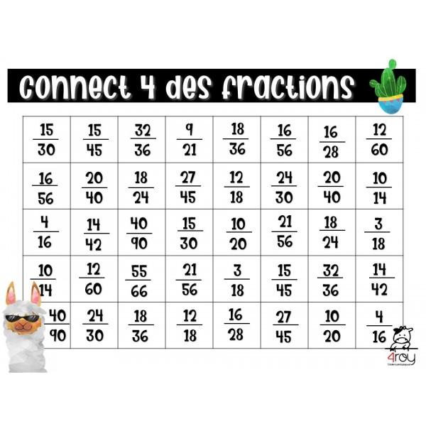 Les fractions équivalentes - connect 4