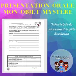 Présentation orale: Mon objet mystère
