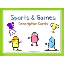 Sports & Games Description Cards