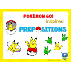 POKEMON GO! Inspired Prepositions cards