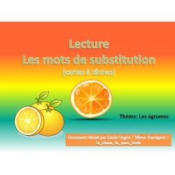 Lecture: Les mots de substitution: Les agrumes