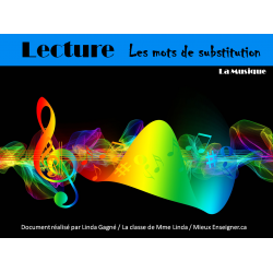 Lecture Les mots de substitution : La musique