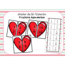 Fractions équivalentes de St-Valentin