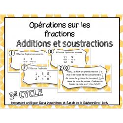 Addition et soustraction de fractions