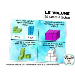 Le volume: Jeu interactif et cartes à tâches