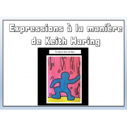 Expressions figées à la manière de Keith Haring