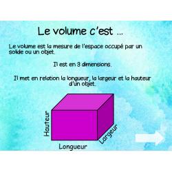 Leçon volume et exercices - 3e cycle