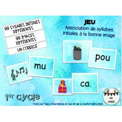Association de syllabes initiales à la bonne image