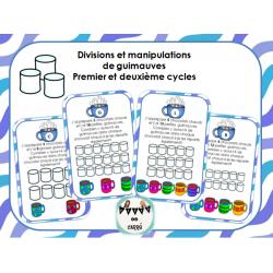 division et manipulation de guimauves