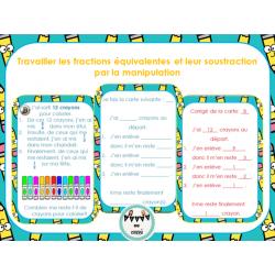 Manipulation de fractions - crayons