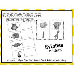 Feuille d'activité - Syllabes initiales