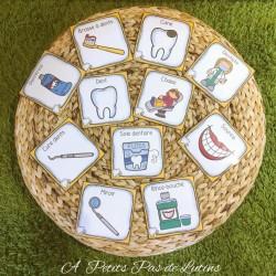 hygiène dentaire (mots étiquettes)
