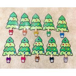 Combien de boules de Noël a le sapin?
