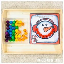 le sourire du bonhomme de neige (couleurs)